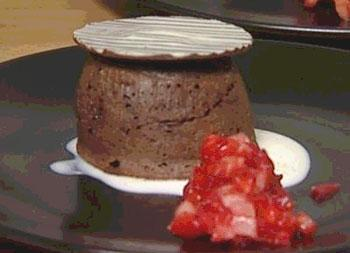 горячий шоколадный пирог