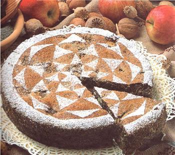торт с яблоками и маком