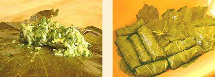 Долма вегетарианская, рецепт приготовления