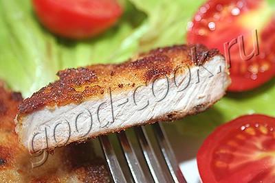 свинина, жаренная в сухарях