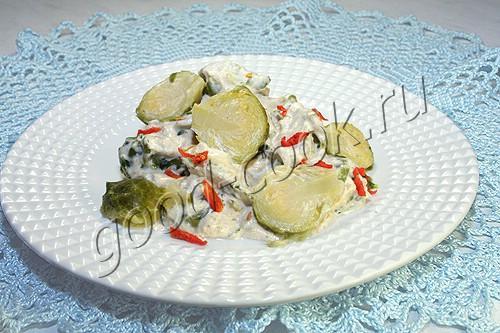 брюссельская капуста в сливочном соусе