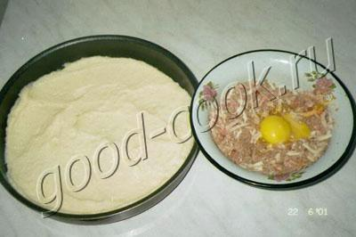 картофельный пирог с мясом и сыром
