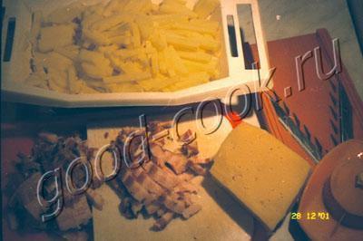 картофель с корейкой