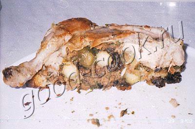 курица, фаршированная брюссельской капустой