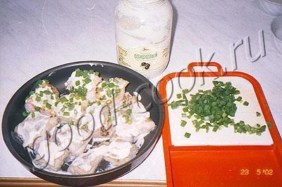 рыба, запеченнная под майонезом