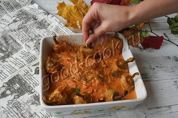 перцы в сметанном соусе