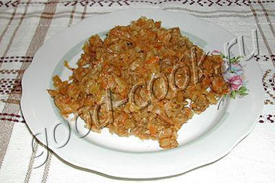 Рецепт тушеной свежей капусты