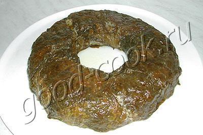 мясной рулет с салатом