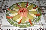 картофель с соусом из брынзы