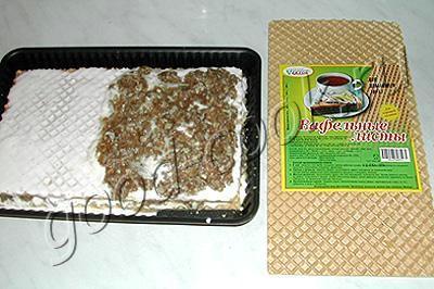 мясной вафельный пирог