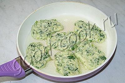 оладьи из зеленого лука