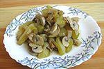грибы с кабачками печеные
