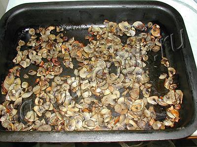 оладьи из запеченных грибов