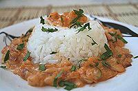 рис с креветками и беконом