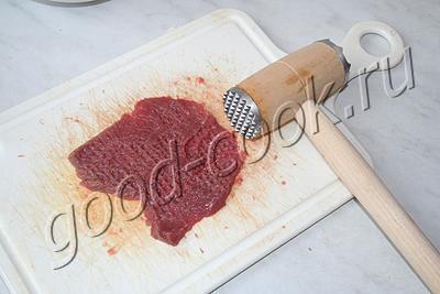 жареные отбивные из говядины