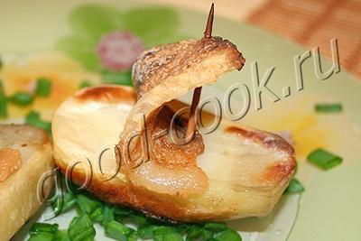 картофель запеченный с салом (парусник)