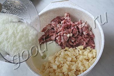 мясо с картофелем тушеные в лаваше