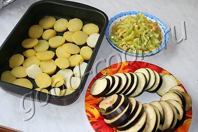 овощи, запеченные под сметаной