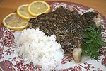 рыба запеченная под соусом Песто