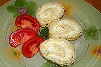 рисово-сырный рулет с яйцами