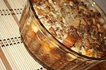пудинг с вареным мясом и сыром