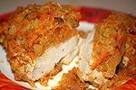 курица запеченная в фольге с овощами