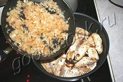 рыба под сливочно-ореховым соусом