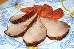 свинина с яблоком в карамельном соусе