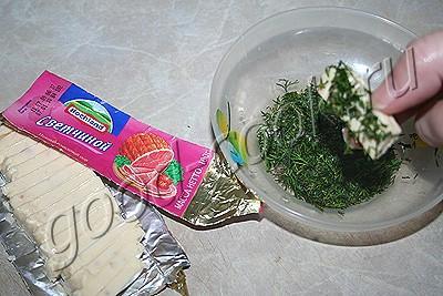 картофель запеченный с плавленным сыром