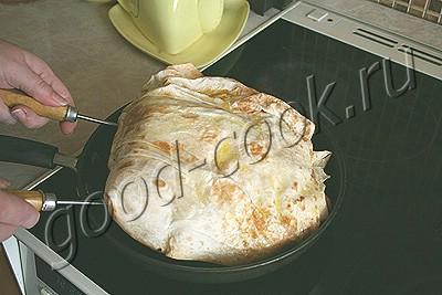 омлет запеченный в лаваше
