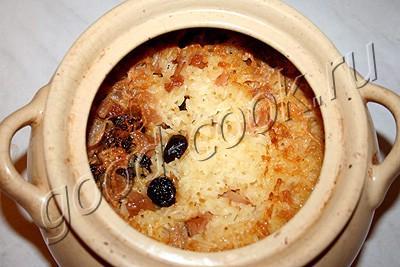 каша рисовая запечённая с тыквой и фруктами