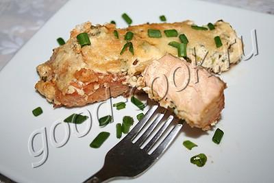 лосось запеченный в сливочно-горчичном соусе