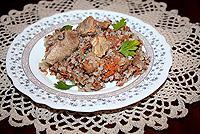 гречневая каша с мясом в горшочке