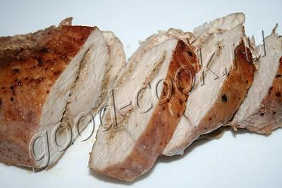 куриная грудка, фаршированная ореховой пастой
