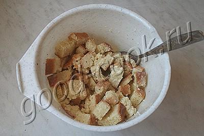 пудинг с курицей и орехами