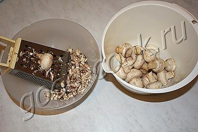 брокколи в сливочно-грибном соусе