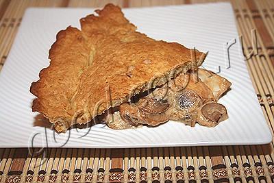 американский рыбный пирог с грибами
