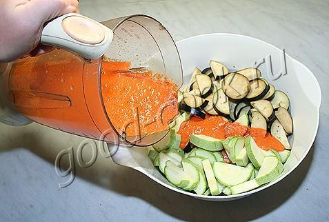 овощи запечённые с соусом из болгарских перцев
