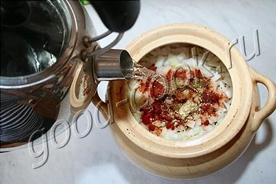пряная говядина тушёная в горшочке на медленном огне