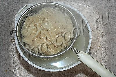 сметанные галушки с жареными грибами