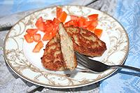 Оладьи хлебно-мясные