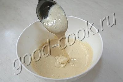 двухслойные оладьи с куриной грудкой
