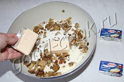 баклажаны тушеные в сырном соусе