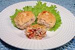рубленные куриные фрикадельки в сметанном соусе