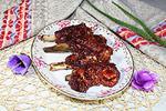 свиные рёбрышки в глазури из соуса Наршараб