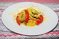 грибы с болгарским перцем, тушеные в сметане