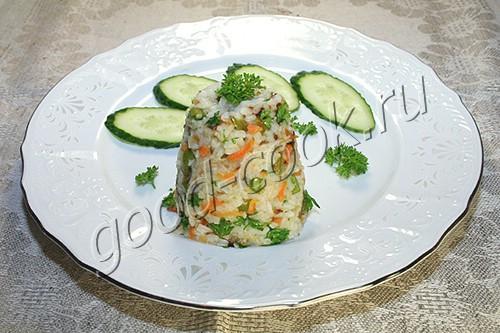 пикантный рис с овощами
