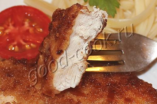 куриное филе с горчицей, жареное в панировке