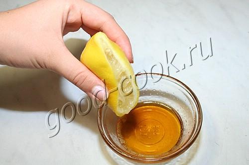 курица в медово-лимонном маринаде