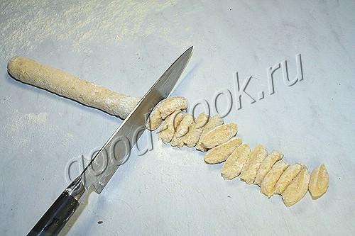 картофельные галушки с беконом